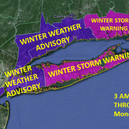 A look at winter weather advisories and warnings in effect Monday.