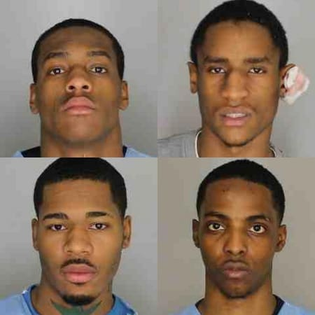 Stephan Hamilton, William Reid, Quaysean Cannonier and Tayquan Tucker are facing felony first-degree robbery charges, after they held up EZ Mobile on South Division Street in New Rochelle on Tuesday afternoon.