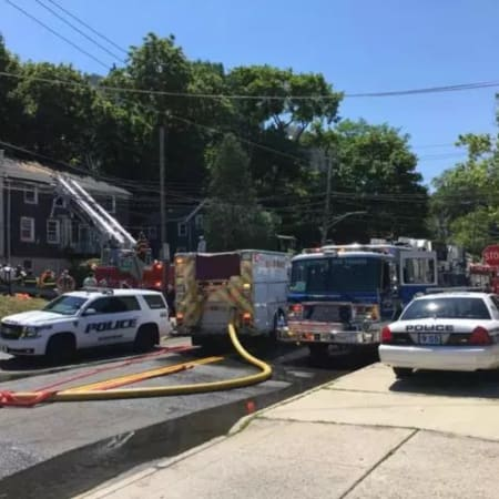 A fire displaced four families in Tarrytown Tuesday.