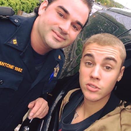 Bergen County Sheriff's Officer Rob Mantone, Justin Bieber.