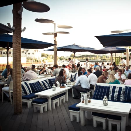 The patio at bartaco in Port Chester.