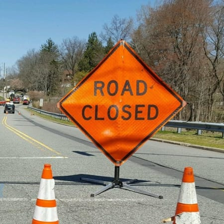 The southbound lanes of the Bronx River Parkway will be closed on Monday, April 25 between Exit 12 and Exit 10.