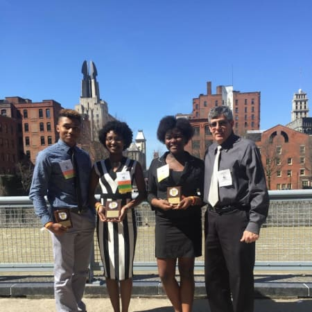 Jahari White, Shadae Leslie, Ashlene Charles and William Rundle represented Mount Vernon at the National Future Business Leaders of America Skills Competition in Rochester.