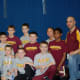 Norwalk Mad Bull wrestlers took a team photo after the meet in Southington.