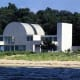 The 1981 home designed by Myron Goldfinger is 125 feet long and is found in Sam's Point on Long Island.