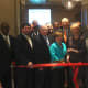 Members of the Business Council of Westchester cut the ribbon to open up the Business Expo at the Hilton Westchester in Rye Brook.