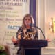 Arianna Huffington speaks about personal well-being at the Center for HOPE luncheon at the Woodway Country Club in Darien.