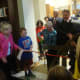 Dee Strilowich and Peter Coffin cut the ribbon on the new Ridgefield Library.