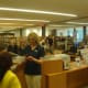 Members of the Ridgefield community explore the new library.