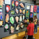 Students from Mamaroneck Avenue School created artwork for an exhibition in the all-purpose room.