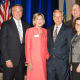 Maggie Wilderotter, second from left, the Chairman and CEO of Frontier Communications, was the keynote speaker at the recent annual meeting of The Business Council. See story for the rest of the people in the photo.