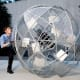 """Sisyphus 2.0,"" a six-foot 500 pound sphere, will be featured as artwork in Caramoor's Sonic Delights Festival."