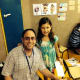 Rabbi Jeremy Wiederhorn with a child from Ashkelon whose summer camp was moved to a bomb shelter.