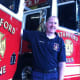 Ralph Falloon pictured at the Central Fire Station in Stamford. He's also the mayor of Cold Spring, N.Y., in Putnam County in addition to his duties as a professional firefighter in Stamford.