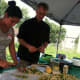 Alejandra Garces and Gavin Pritchard prepare beans for the salad they are making at the Farm to Table workshop.