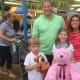 The Cameron family at the Easton Fireman's Carnival. The kids said their favorite part was the haunted house.
