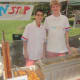Edouard De Parcevaux and Charlie Stout of Non-Stop Donut Shop make their mini-donuts right in front of the customers at the Rowayton Farmers Market.