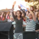 The audience prepares for the Beach Boys at Alive@Five Thursday in Stamford.