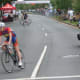 A rider makes a turn during the Danbury Audi Race4Scholars Criterium amateur and professional bicycle races in downtown Danbury on Sunday. It was held on a 1-kilometer course.