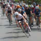 Women race during the Danbury Audi Race4Scholars Criterium amateur and professional bicycle races in downtown Danbury on Sunday.