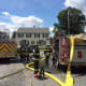 Fairfield Fire Department Ladder 2 and Engine 3 on scene at Garden Court Monday afternoon.