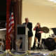 Tuckahoe Mayor Steve Ecklond spoke to the crowd Wednesday at the centennial celebration of the Tuckahoe Public Library.