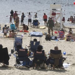 Sunny skies and temperatures in the 80s will make beaches a popular place throughout the weekend.
