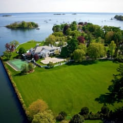 The former home of Donald Trump in the Indian Harbor section of Greenwich is on the market for $54 million.