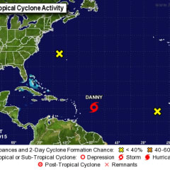 Tropical Storm Danny is heading toward the Caribbean.