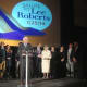 Former Bedford Supervisor Lee Roberts's entire family takes the stage to pay tribute to her at Bedford 2020's salute to Roberts Saturday.