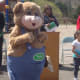 A squirrel from Treetures came by Wolfpit Elementary to celebrate Arbor Day with the students.