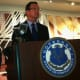 Gov. Dannel P. Malloy speaks during a press conference Thursday in which Starwood Hotels & Resorts Worldwide will add 340 jobs at its Stamford headquarters.