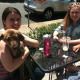 Younger people tend to shy away from doughnuts, said a coffee shop owner. Laura Martin, 20, with her 4-month-old beagle mix, Milo. Maria Arambulo, 20, center, and Kaley Walsh, 20, right, agreed, saying they're too sweet and too fattening.