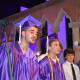 Members of The Rolling Tones perform at John Jay High School's 2014 commencement.