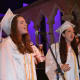 Members of The Treblemarkers perform at John Jay High School's 2014 commencement.