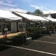 Darien businesses had set up their tents outside Wednesday in preparation for the Thursday start of the Sidewalk Sales and Family Fun Days.