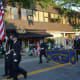Katonah firefighters march in the Mount Kisco parade.