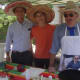 Christopher McKinney, Brandon Rakowski and State Rep. Jonathan Steinberg offered a spicy chili at the Wakeman Town Farm Chili Cook-Off.