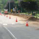 Workers are installing the 8-inch polyethylene natural gas line in Wilton including this section near Wilton High School. Work began Friday and is expected to be completed by the end of November.