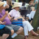 Some of the crowd at the SoNo Arts Celebration on Sunday.