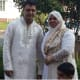 Stamford Taxi driver Mahomed Kamal with wife Sultana and their 3-and-a-half-year-old son Sayfayt, in an undated photograph supplied by a family member. Kamal was stabbed to death early Wednesday and a man has been charged with his murder.