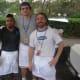 Francisco Garcia, Jeff Evans and Bryan Malcarney of Blue Lemon Restaurant at the festival in Westport.