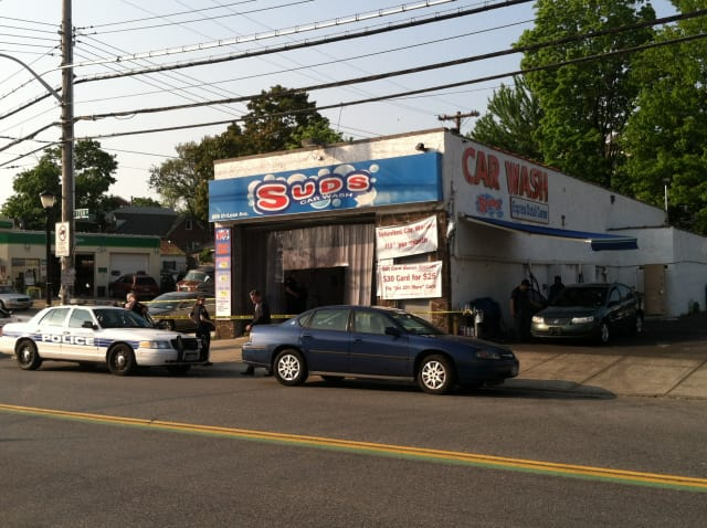 Suds Car Wash on McLean Avenue was robbed Tuesday afternoon, police and witnesses said.