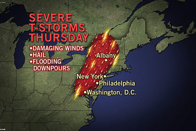 The National Weather Service warns of possible flash flooding over the course of Thursday and into Friday morning for most of Westchester County.