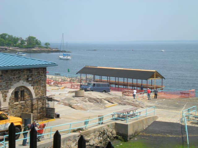 Hudson Park Beach in New Rochelle