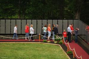 "A replica of the Vietnam Veterans ""Moving Wall"". like this one on display in Tennessee last year, will be in Hastings in July."