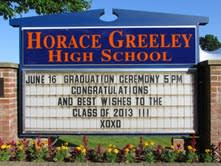 Students in Horace Greeley High School's Class of 2013 plan to attend more than 120 universities in more than 30 states and countries.