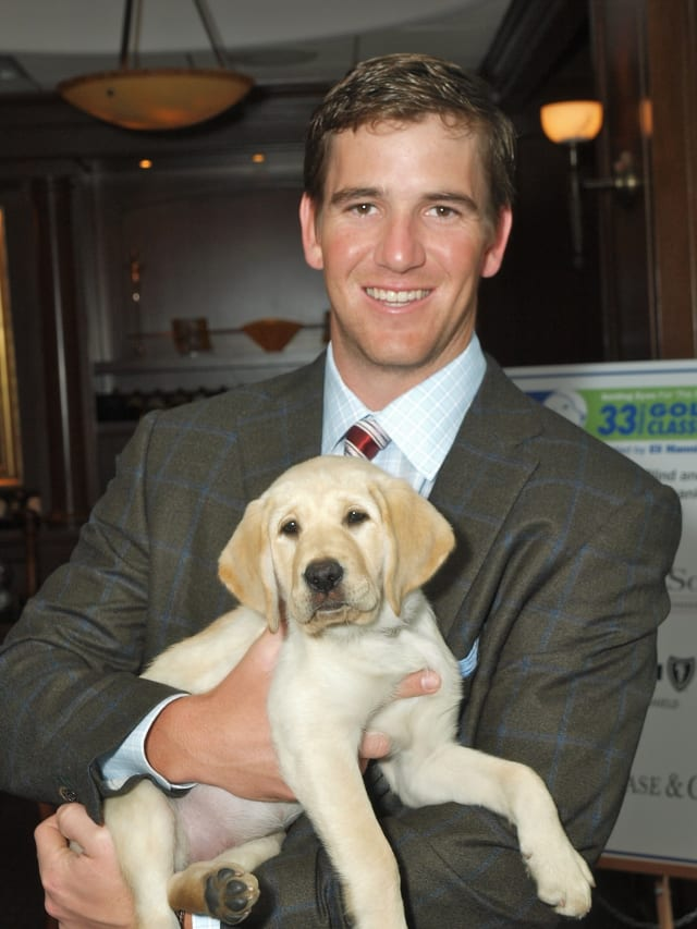 Eli Manning again hosted the Guiding Eyes for the Blind Golf Classic in Mt. Kisco in 2013.