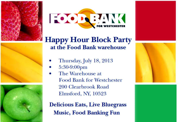 The Food Bank For Westchester will hold a Block Party next week.