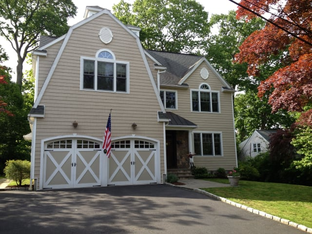 The home at 4 Leslie Lane in New Canaan will be open from 1 to 3 p.m. on Sunday.
